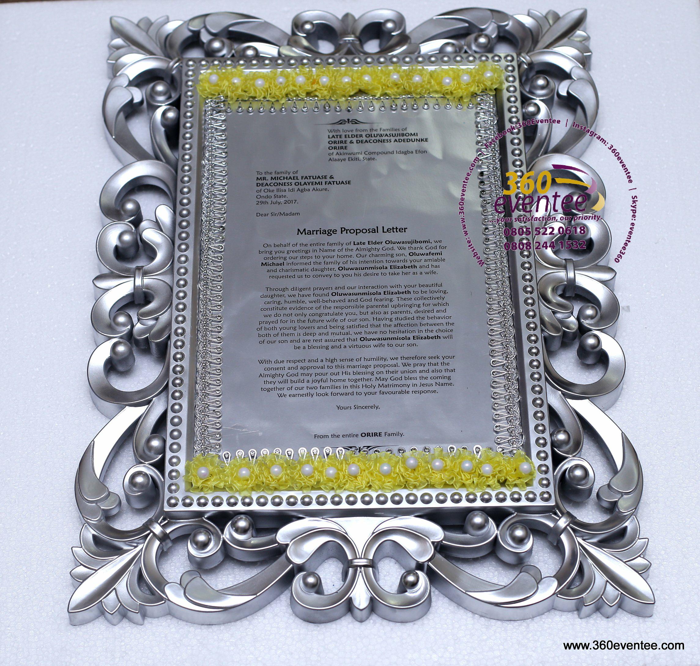Traditional Wedding Letter Engagement Letter